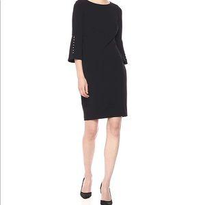 Calvin Klein Black Bell-Shaped Sheath Dress